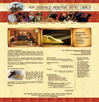 New Tabernacle Missionary Baptist Church Website